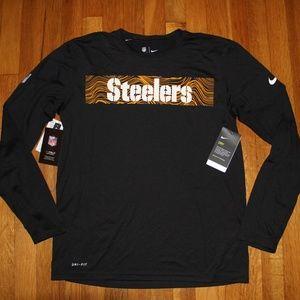 NEW Pittsburgh Steelers Nike Dri-Fit OnField Shirt